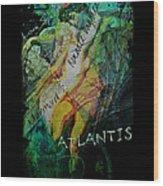 Mermaid Love Spell Wood Print
