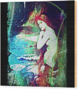 Mermaid Of The Tides Wood Print