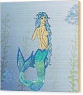 Mermaid Paint The Sea  Wood Print