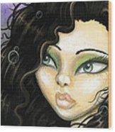 Mermaid Tia Wood Print by Elaina  Wagner