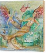 Mermaids Wood Print