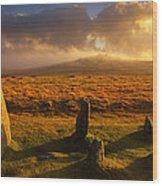 Merrivale Stone Rows Wood Print