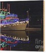 Merry Christmas Bandon By The Sea 2 Wood Print