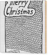Merry Christmas Wood Print