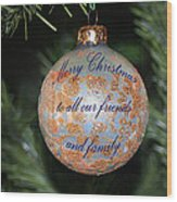 Merry Christmas Greetings Wood Print