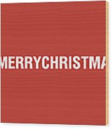 Merry Christmas Hashtag Wood Print