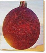 Merry Christmas Ornament Sunrise 11 12/17 Wood Print
