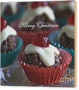 Merry Christmas - Puddings Wood Print
