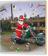 Merry Christmas  Seasons Greetings  Happy New Year Wood Print