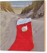 Merry Christmas Stocking 2 12/23 Wood Print