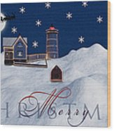 Merry Christmas Wood Print by Susan Candelario