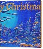 Merry Christmas Wish V2 Wood Print
