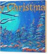 Merry Christmas Wish V3 Wood Print