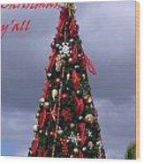 Merry Christmas Y'all Wood Print