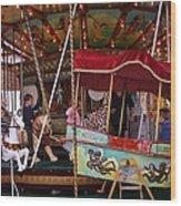 Merry Go Round Wood Print