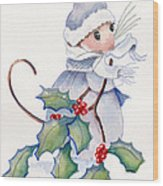 Merry Merry Christmouse Wood Print