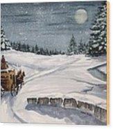 Merry Ride Wood Print