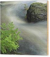 Mersey River Nova Scotia Canada Wood Print