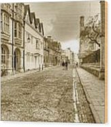 Merton Street Oxford Wood Print