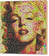 Marilyn - Colored Diamonds Wood Print