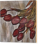 Mes Tulipes Wood Print