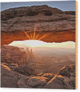 Mesa Arch Morning Wood Print