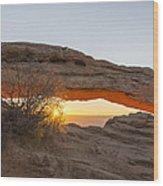 Mesa Arch Sunrise 3 - Canyonlands National Park - Moab Utah Wood Print