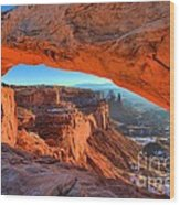 Mesa Sunrise Glow Wood Print