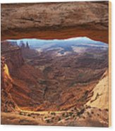 Mesa Sunrise Window Wood Print