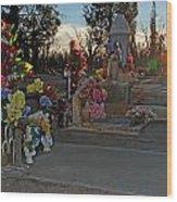 Mesilla Nm Cemetery 14  Wood Print