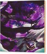 Mesmerize Purple II Wood Print