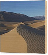 Mesquite Dunes Death Valley 1 Wood Print