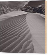 Mesquite Dunes Death Valley B W Wood Print