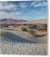 Mesquite Flat Dunes Wood Print