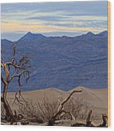 Mesquite Flat Sand Dunes Stovepipe Wells Death Valley Wood Print
