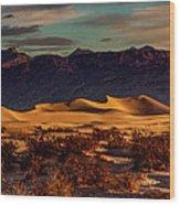 Mesquite Flat Sunrise Wood Print