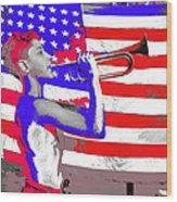 Mess Call Methodist  Service  At Camp Nathan Hale Southfields New York 1943-2014   Wood Print