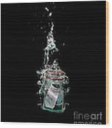 Message In Sinking Bottle Wood Print by Simon Bratt Photography LRPS