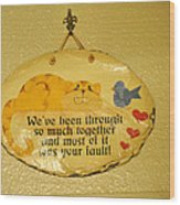 Message Of Love Wood Print