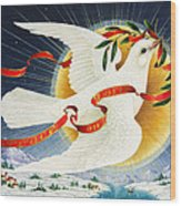 Messenger Of Peace Wood Print