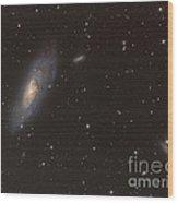 Messier 106 Spiral Galaxy Wood Print