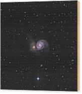 Messier 51, The Whirlpool Galaxy Wood Print