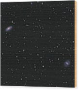 Messier 88 And Messier 91 Wood Print
