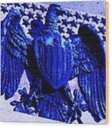 Metal American Eagle Symbol Wood Print