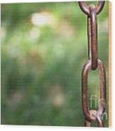 Metal Chain Wood Print