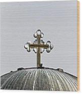 Metal Cross Wood Print