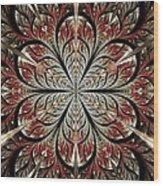 Metal Flower Wood Print