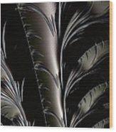 Metal Flowers  Wood Print
