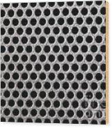 Metal Grill Dot Pattern Wood Print
