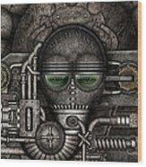 Metal Mask Wood Print
